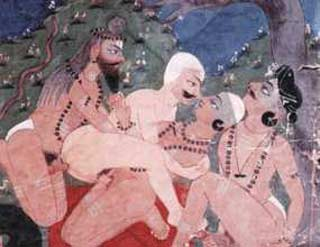 ancient indian group sex - Desi gay sex pics in ancient Indian paintings