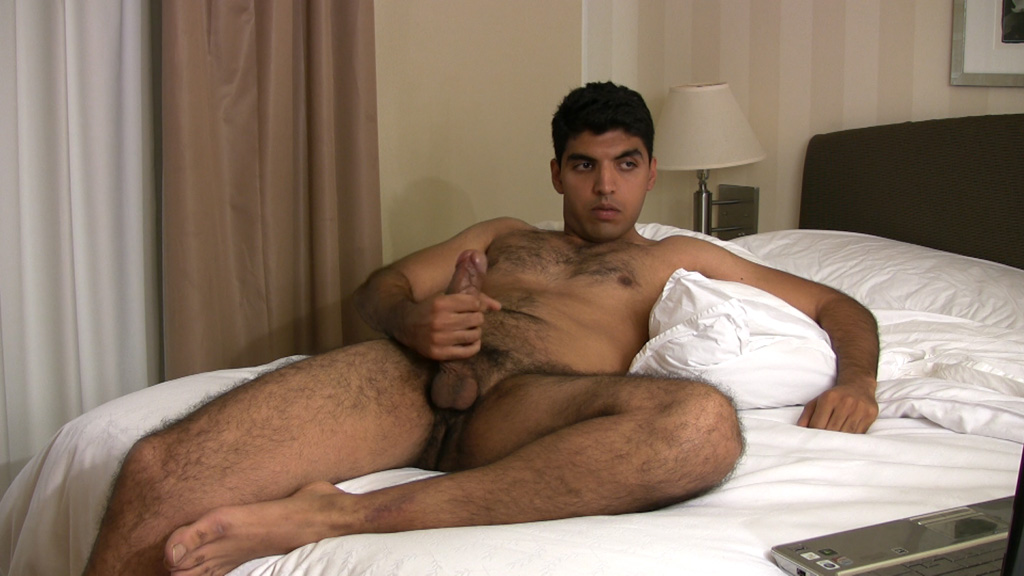 Hung uncut indian guy wanking on cam