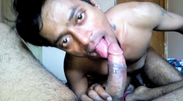 Indian gay blowjob video