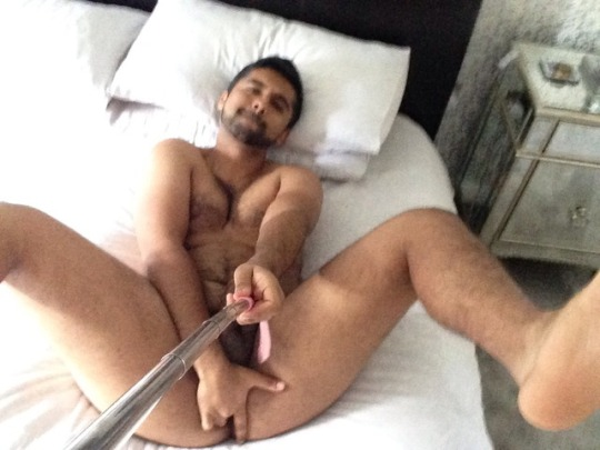 Hunky Gay Man Stripping And Jerking His Dick