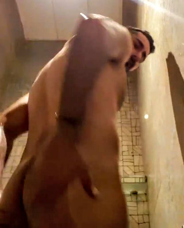 Indian gay video of a horny desi hunk showering naked on cam