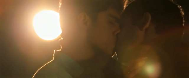 Indian gay movie scene of actor Rohan Shah making out with a guy publicly