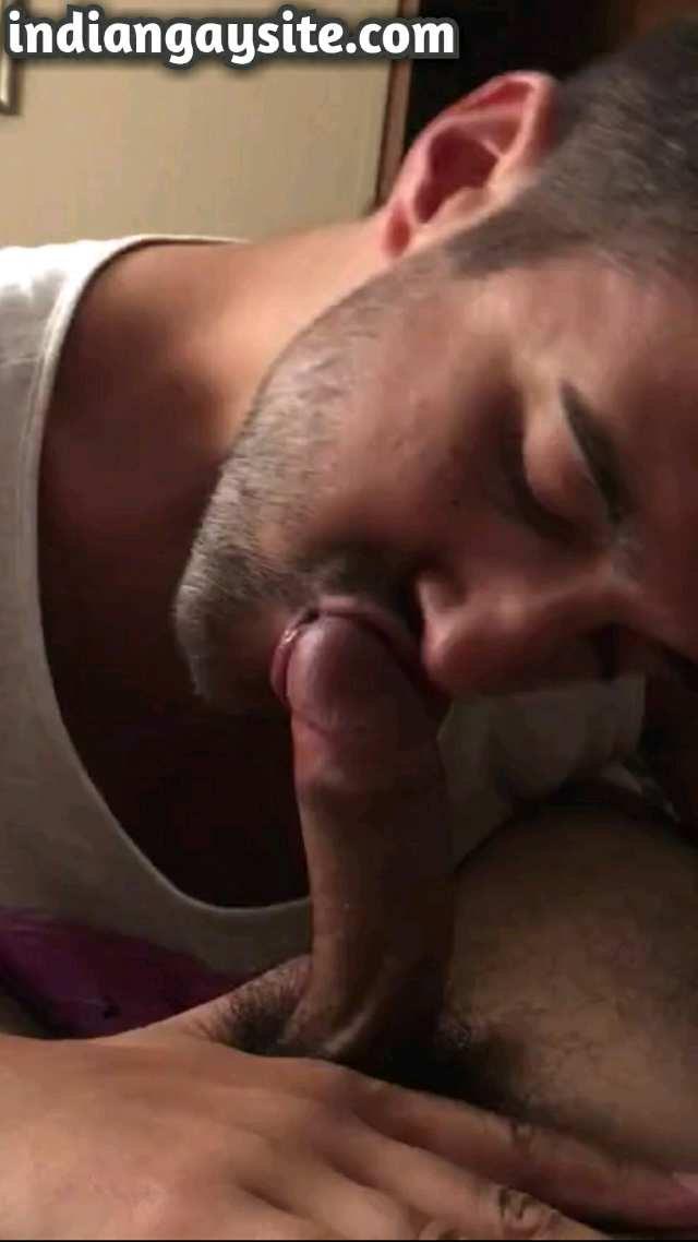 Desi gay blowjob video of a horny Pakistani guy getting sucked by his mixed race cousin