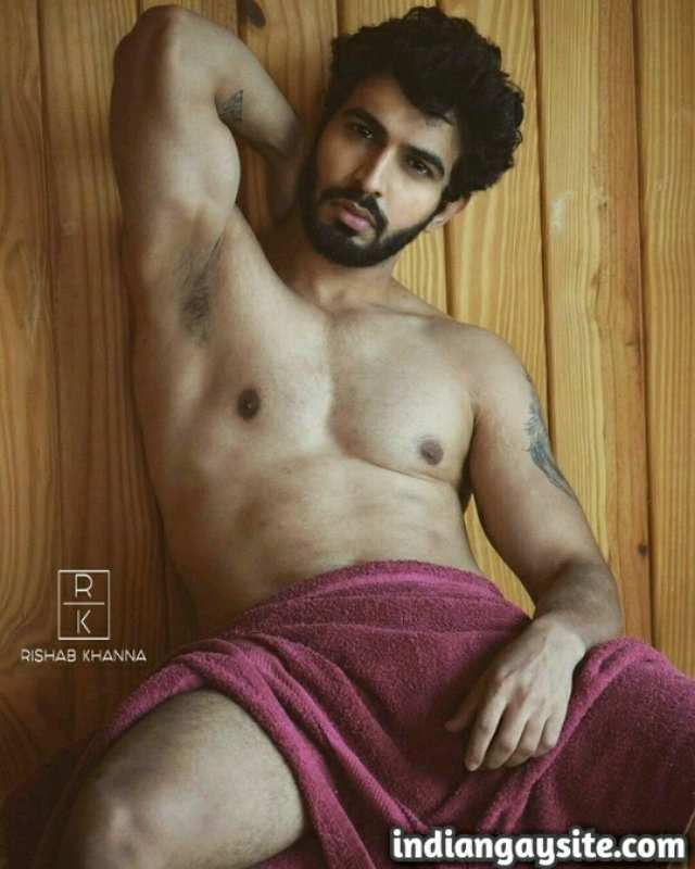 Indian Gay Porn: Sexy desi model exposing his hot body on a steamy photoshoot