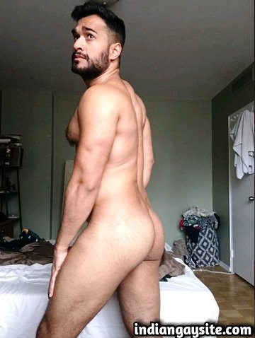 Indian Gay Porn: Sexy Canadian Indian model posing in hot naked shots