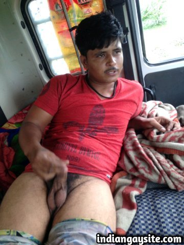 Indian gay video of a horny Haryanvi truck driver jerking off for a reporter during strike