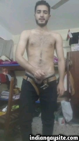 Indian gay video of a horny and wild desi twink stripping naked and jerking off for his viewers