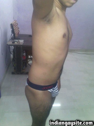 Indian Gay Porn: Sexy desi twink exposing his hot body in tiny briefs