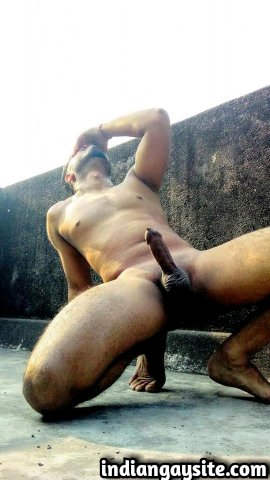 Indian Gay Porn: Sexy desi shows off his hot ass and big dick in various slutty poses