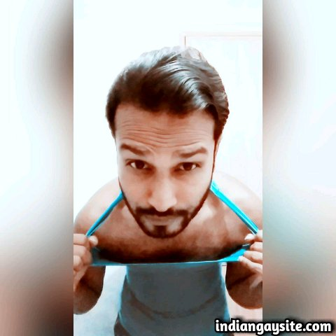 Indian Gay Porn: Sexy desi hunk strips naked and shows off his hot and hairy body