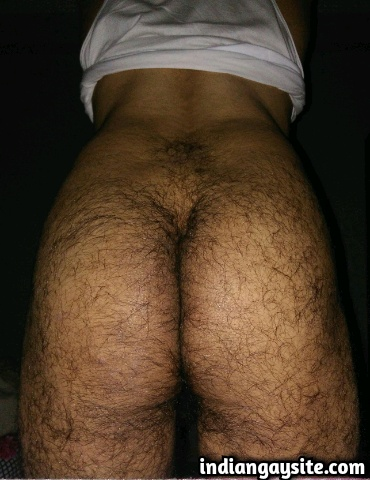 Indian Gay Porn: Sexy and hairy desi horny slut exposing his beautiful brown butt