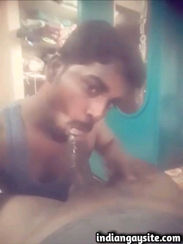Indian gay blowjob video of a horny Tamil twink sucking his master's big dick