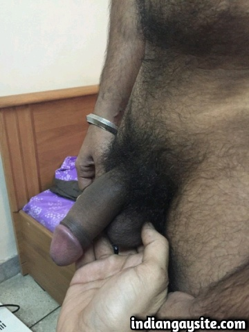 Indian Gay Porn: Horny guy convinces his straight hunky friend to strip and admires his hairy hot body
