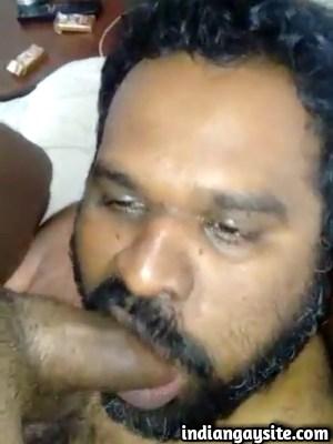 Gay blowjob video of a drunk mature cock sucker