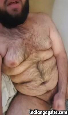 Gay porn clip of a horny Paki cub playing naked