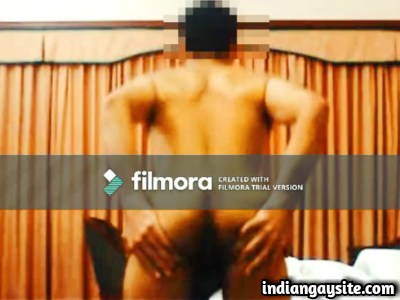Desi gay video of horny daddy showing naked body