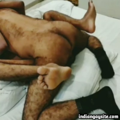 Gay Hairy Fucker Drilling a Horny Desi Bottom