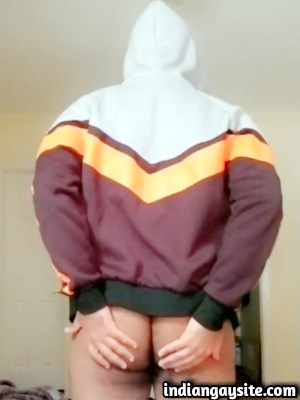 Gay porn clip of slutty desi guy playing with ass
