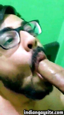 Gay Blowjob Video of a Cute Indian Cock Sucker