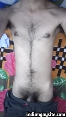 Desi Gay Porn Pics of Skinny & Hairy Naked Twink