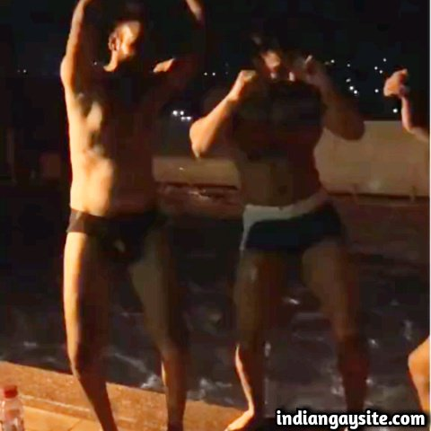 Sexy Desi Hunks in Undies having a Pool Party