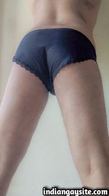 Naked Desi Gay Bottom's Hot Ass in Briefs