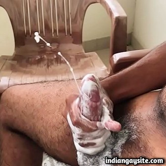Indian Gay Video of a Soapy Cumshot Explosion