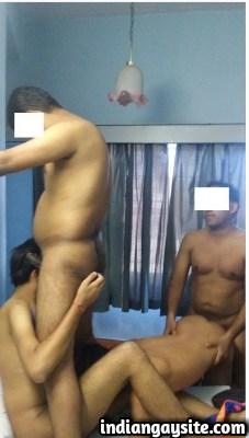 Indian Gay Group Sex among Wild Naked Tamil Men