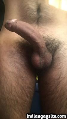 Lund Pics of Horny Hunk's Big Uncut Veiny Cock