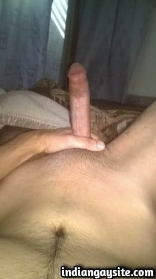 Sexy Indian Hunk with a Big Circumcised Cock