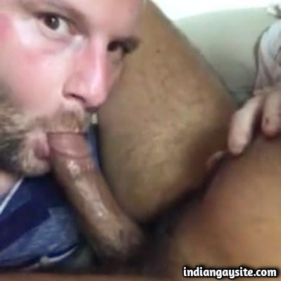 White Guy Enjoys Sucking Indian Cock in Gay Blowjob Video