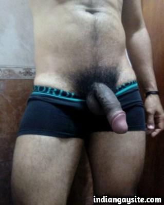 Sexy Indian Hunk shows Bulging Boxers & Big Cock