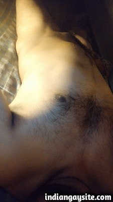 Naked Indian Hunk Shows Hot Hairy Body & Big Cock