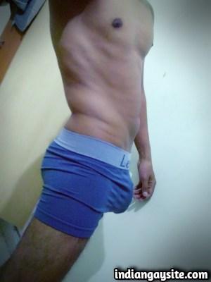 Naked Indian Hunk Shows Big Bulge in Undies