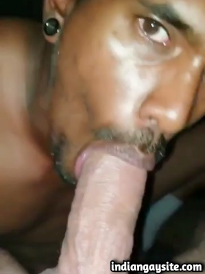 Indian Cock Sucker Gets High & Blows White Cock