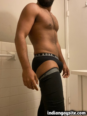 Hunk in briefs teasing sexy hot and fit body