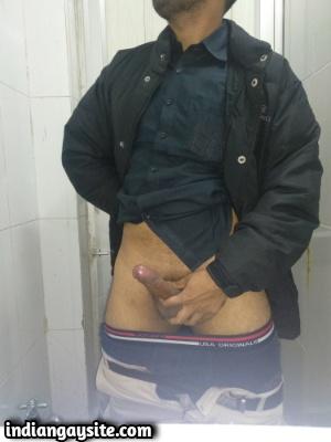 Naked Indian Hunk from Jalandhar Shows Big Uncut Cock