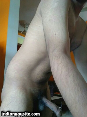 Slutty Naked Twink Shows Huge Uncut Cock & Fit Body