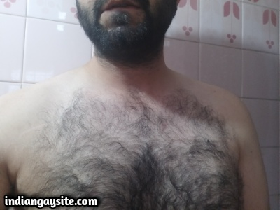 Indian Hairy Hunk Exposing Hot Furry Body