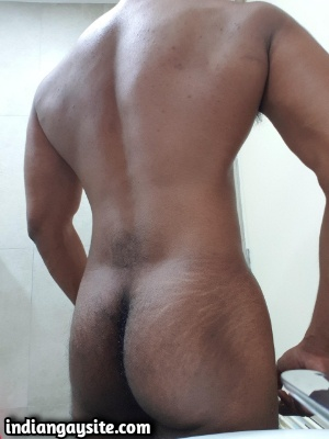 Hairy Naked Hunk Teases Hot Body Completely Naked