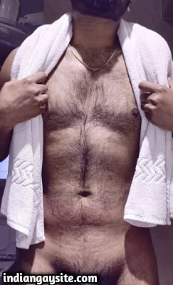 Hairy Indian Hunk Teases Hot Body & Big Cock