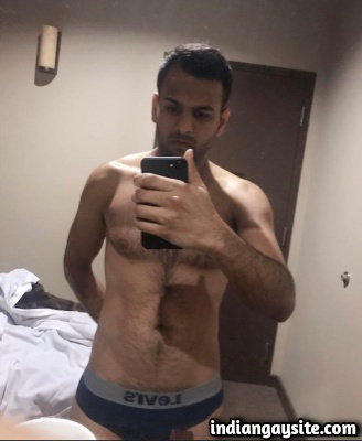 Sexy Indian Hunk with Big Uncut Cock & Hot Hairy Body