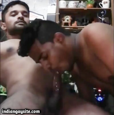 Indian Gay Blowjob Video of Hot Hunk Sucked Wet