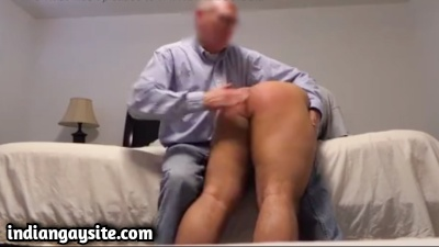 White Daddy Spanks Indian Twink in Gay Porn Video