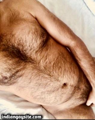 Wild Hairy Indian Hunk Wanking Big Hard Cock