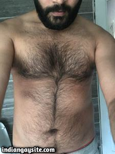 Hairy Indian Hunk from London with Huge Uncut Dick