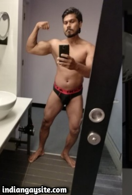 Big Indian Cock of Hot Muscular Naked Hunk
