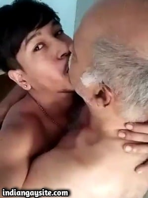 Daddy Kissing Twink in Indian Gay Porn Video