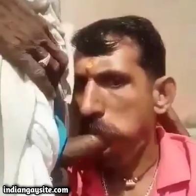 Desi Gay Blowjob Video of Suckers on Terrace