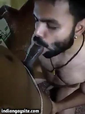 Slutty Slave Swallows Master's Cock in Desi Gay Porn Video
